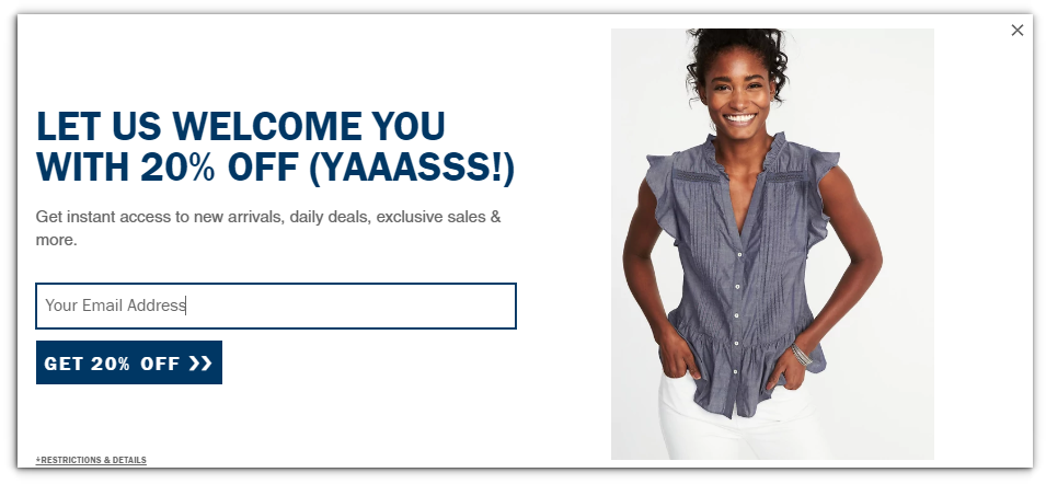 Old Navy - Ecommerce Business - Sendlane