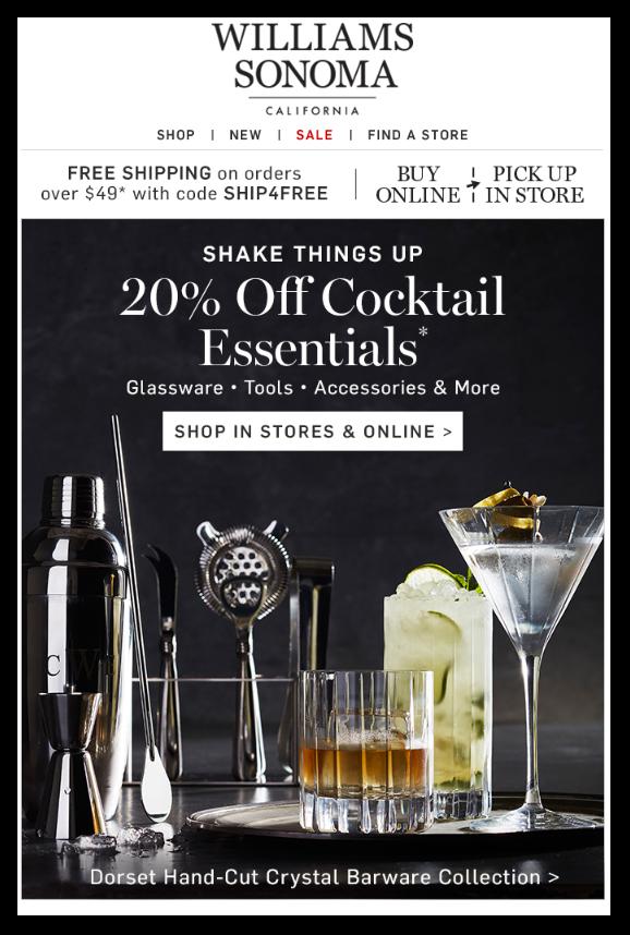 Williams Sonoma Promotional Emails - Sendlane