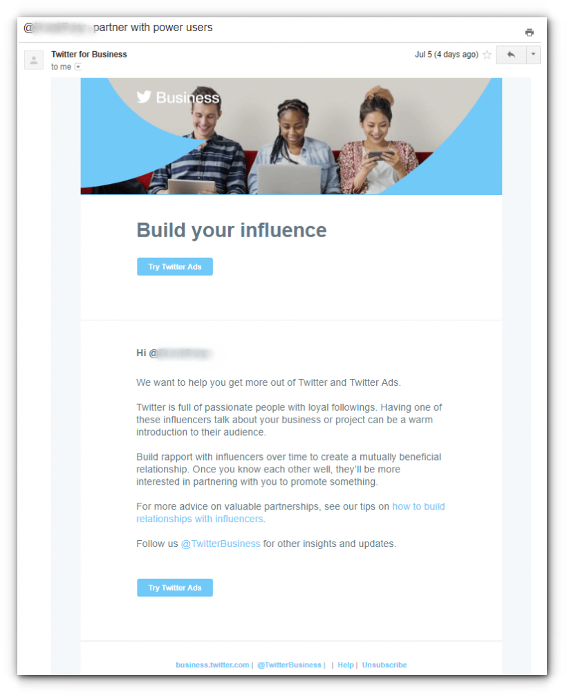 email campaigns to sell ads - email 8