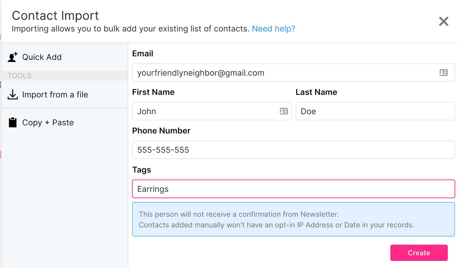 sendlane_contact_import_tagging