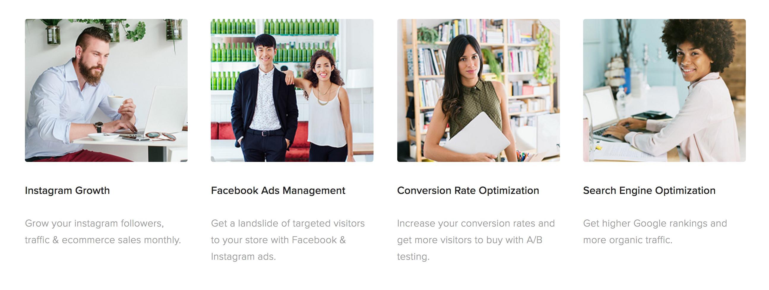 CTA example - conversion centered design