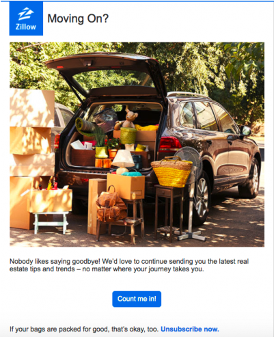 Win Back Your Unengaged Email Subscribers - Zillow Win Back Emails
