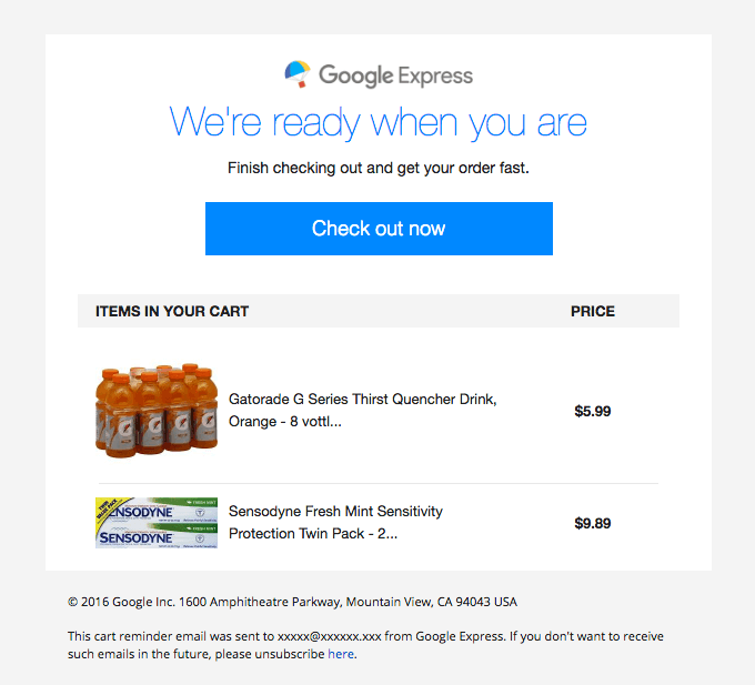 automation is an absolute must-have - google express email