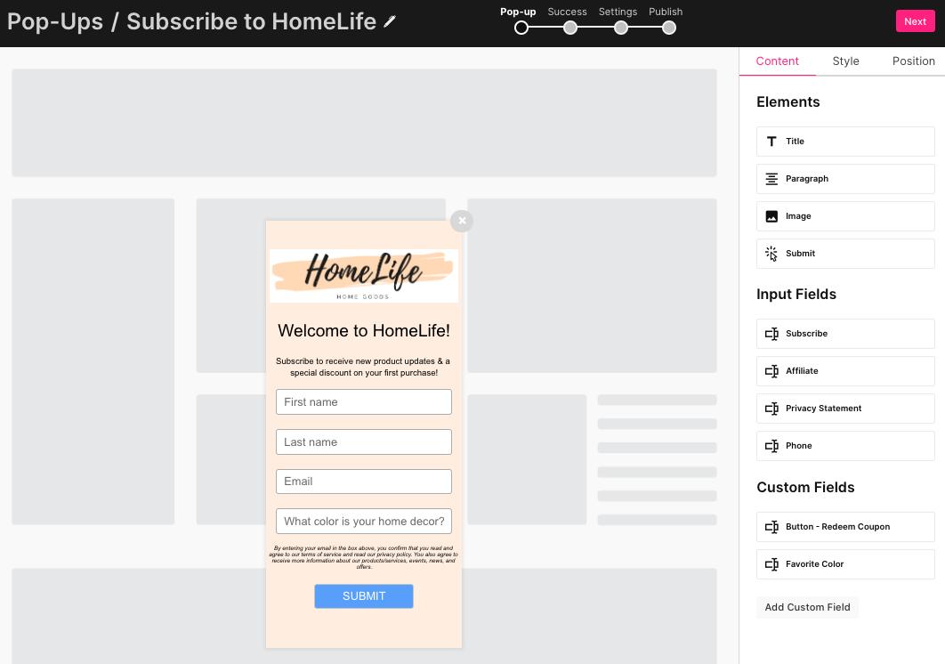 sendlane_popup_email_marketing_subscribe