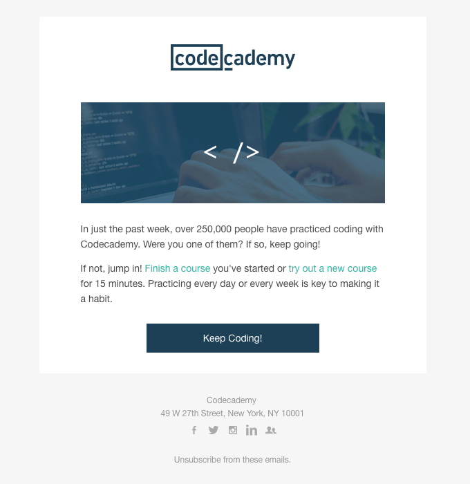 automation is an absolute must-have - codecademy email