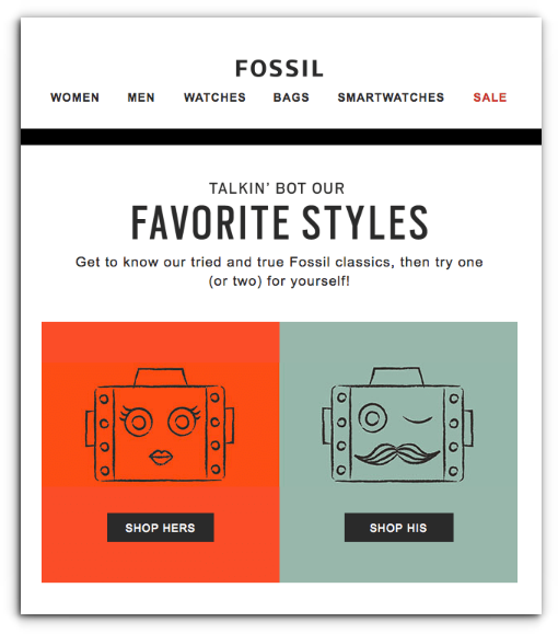 Fossil - Ecommerce Business - Sendlane