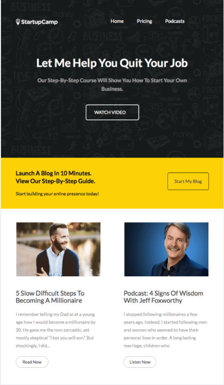 Less Is More Emails - Startup Camp