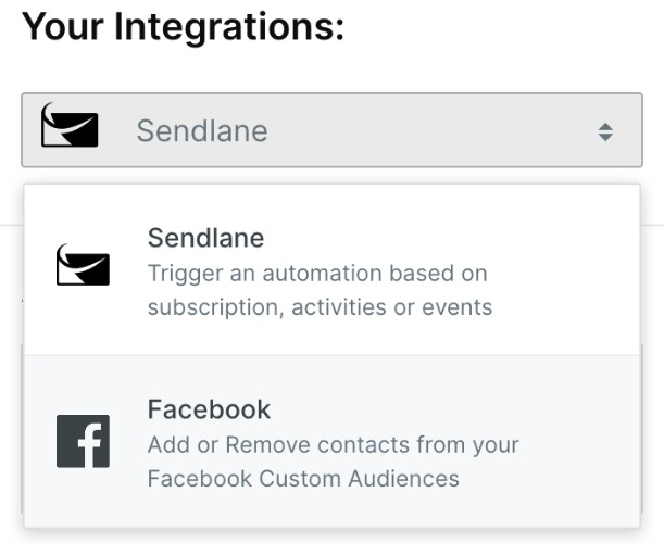 sendlane_facebook_integrations