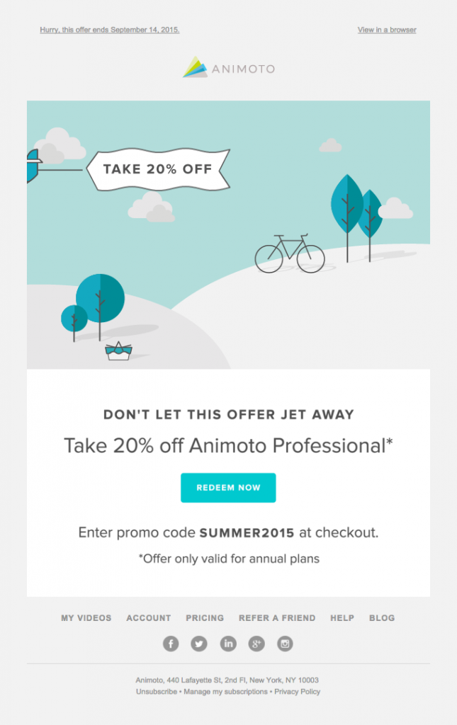 automation is an absolute must-have - animoto email