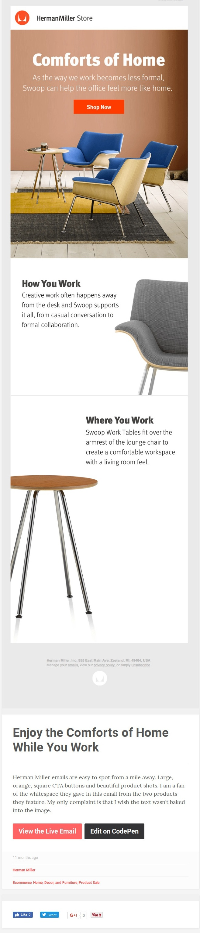 Less Is More Emails - Herman Miller