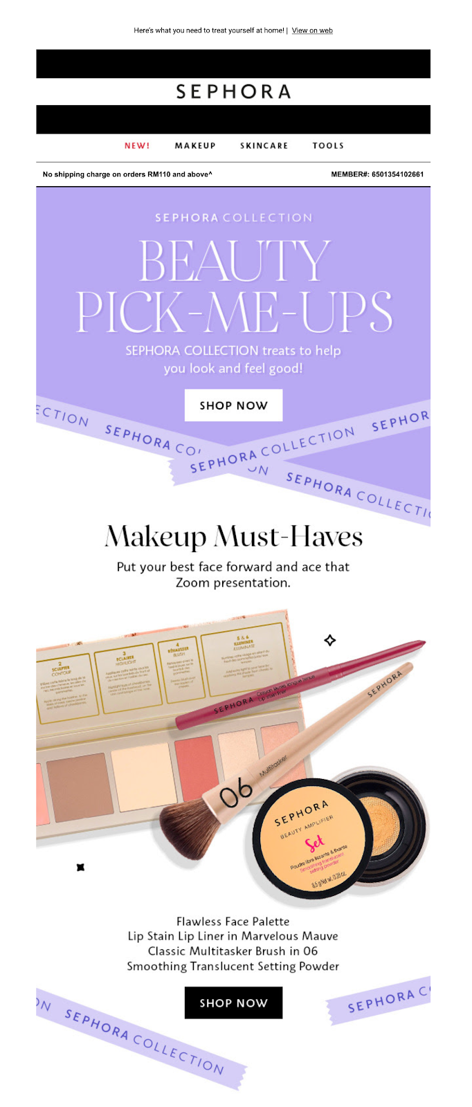 sephora_email_marketing_covid