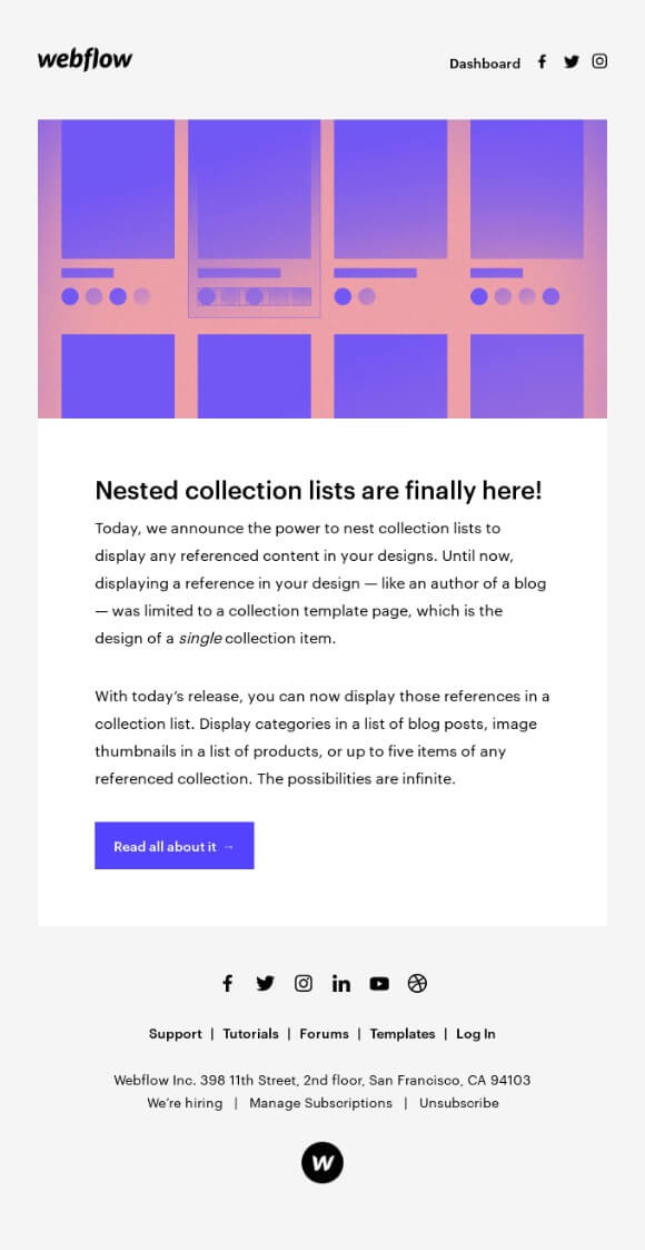 product-update-emails-webflow