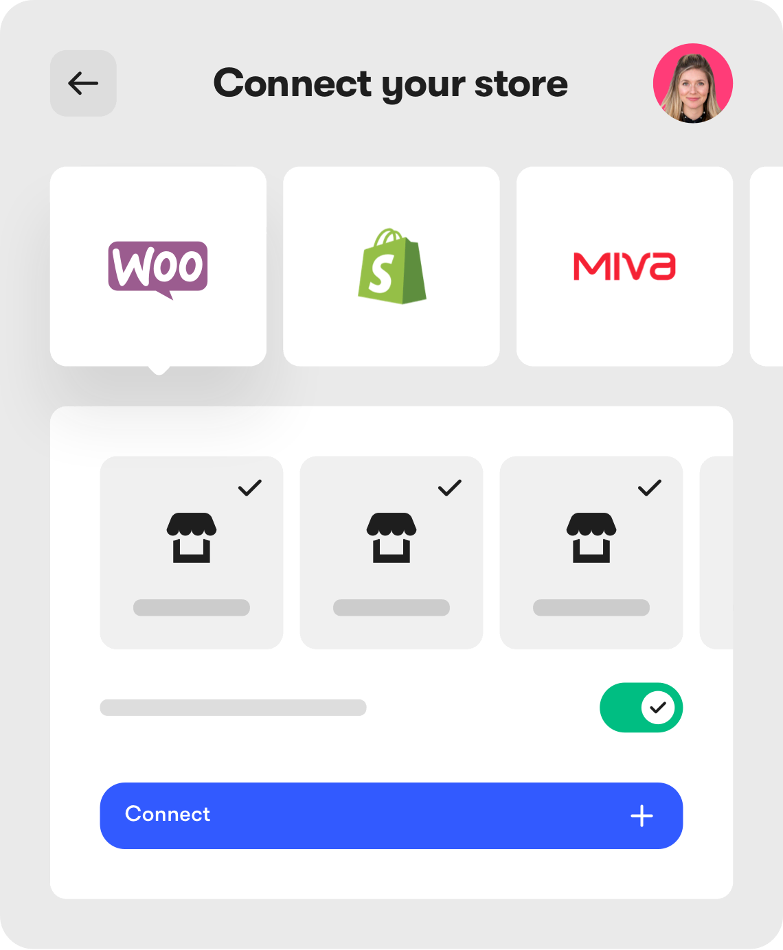 Connect your store dashboard