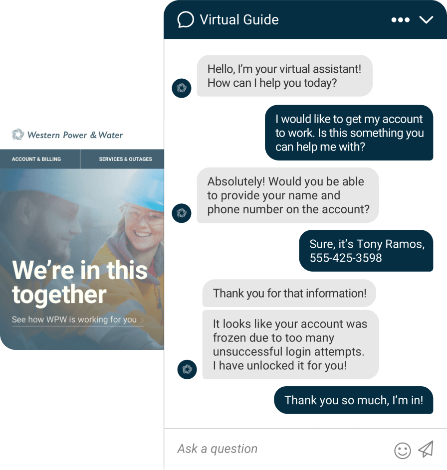 Example of a conversation with a Chatbot