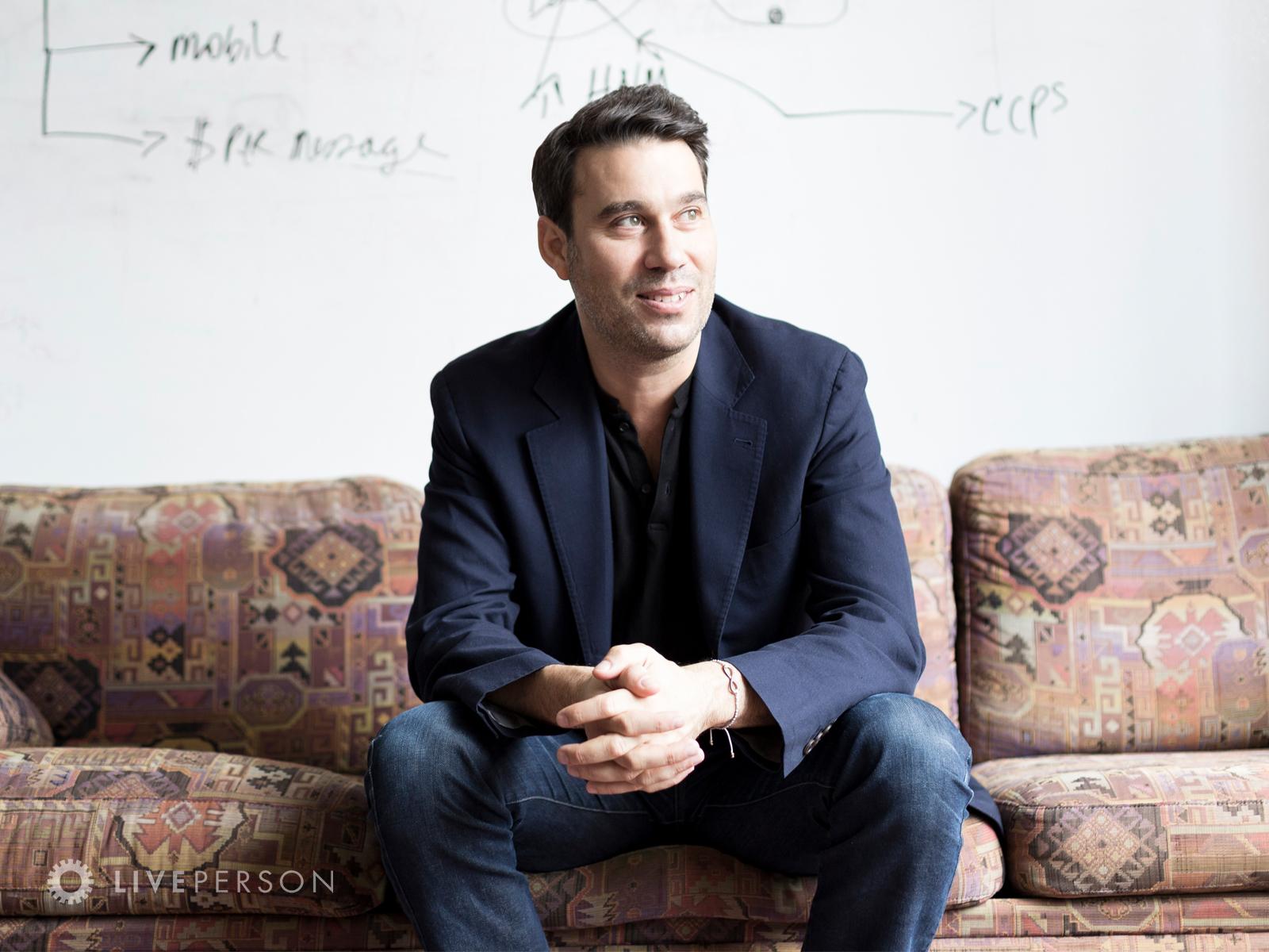 Founder & CEO, Rob LoCascio at HQ in NYC