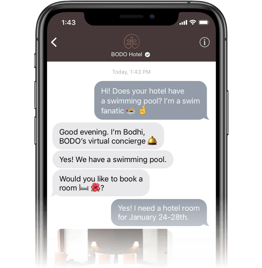 Conversation where the user can easily find products