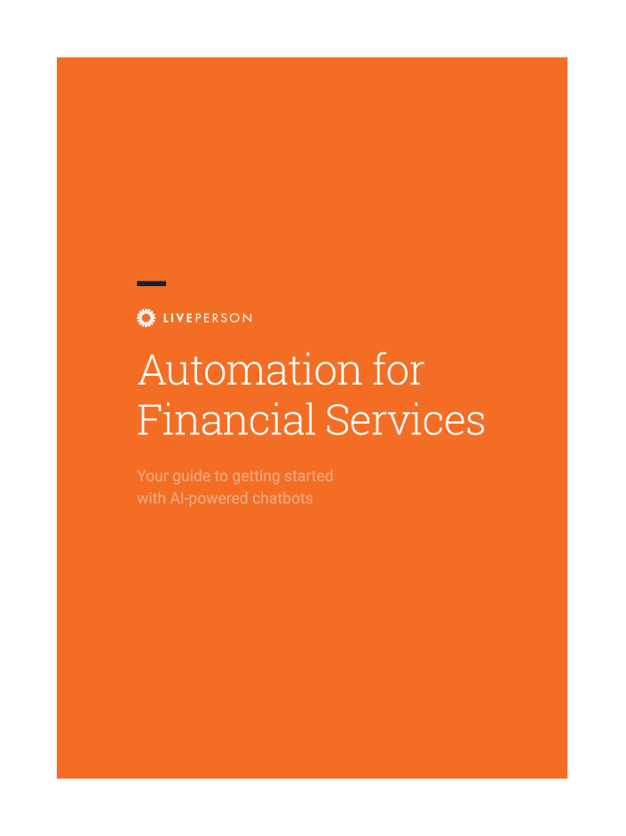 Cover image of Automation for Financial Services report