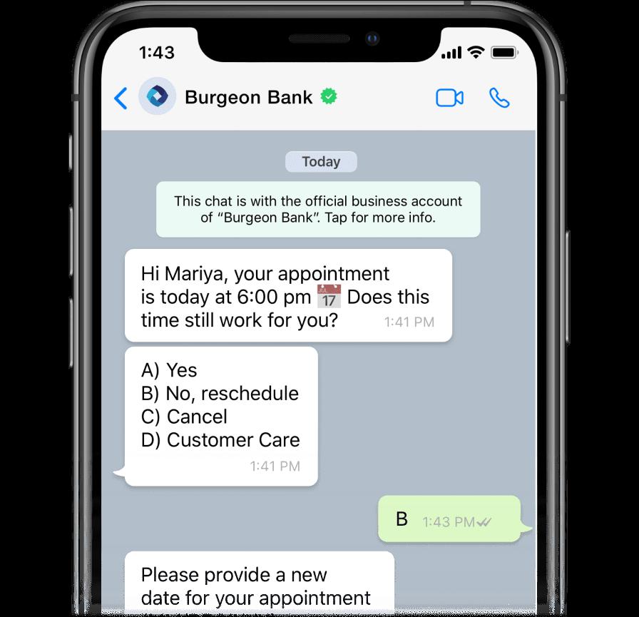 Using AI-powered chatbot on WhatsApp