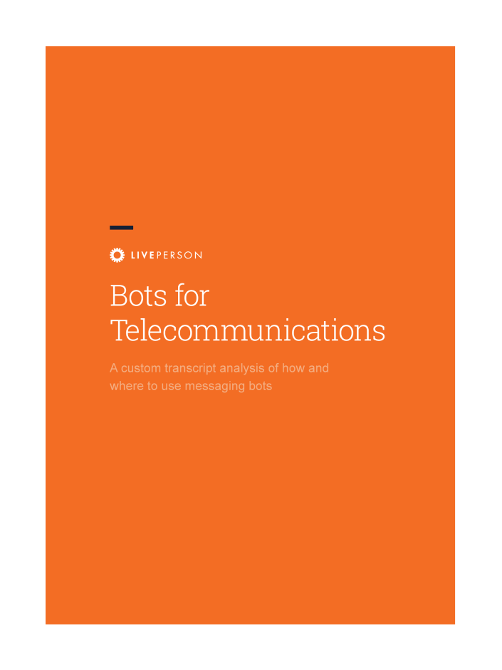 Cover image of Bots for Telecommunications report