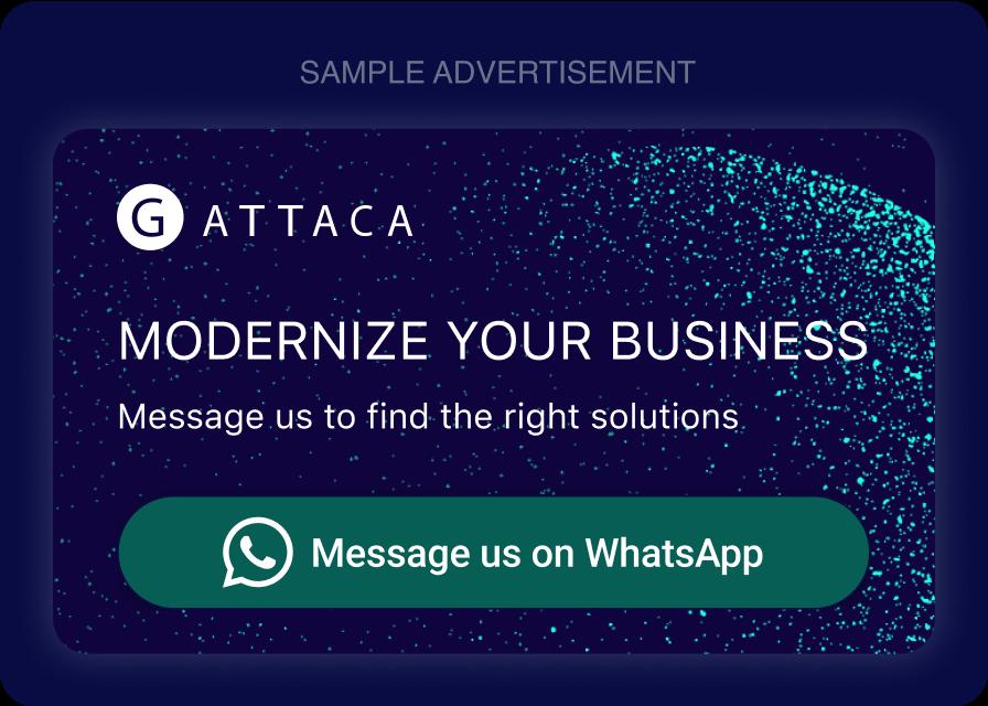 WhatsApp Conversational Ad Example