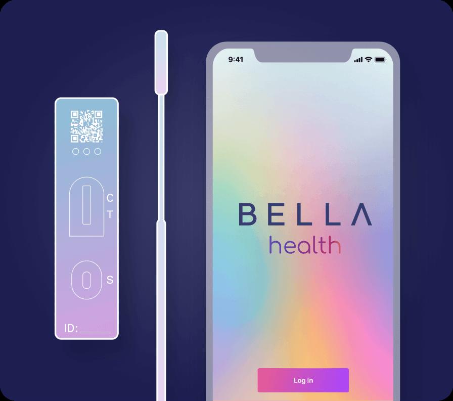 BELLA Health app on consumers phone