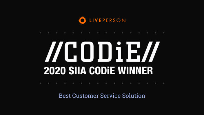 LivePerson winner of the 2020 SIIA CODiE award
