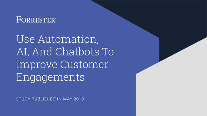 Cover of Forrester's May 2019 automation report