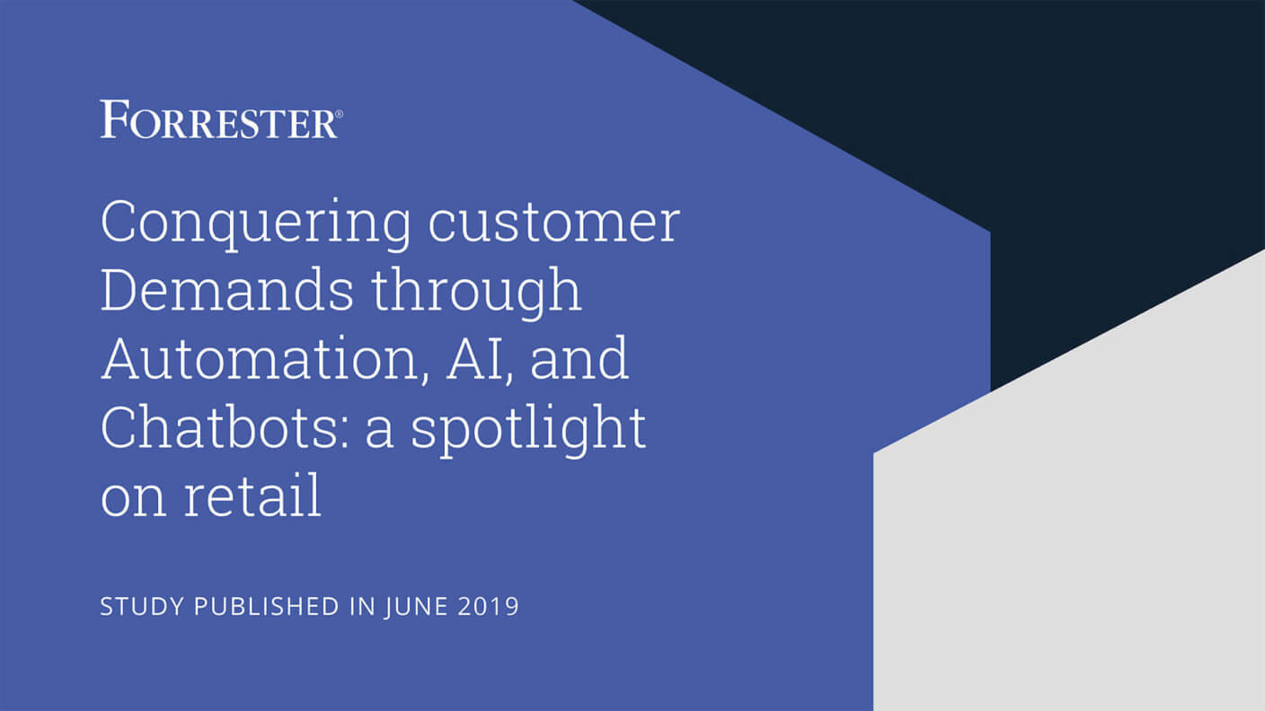 Cover of the Forrester study on AI for retail