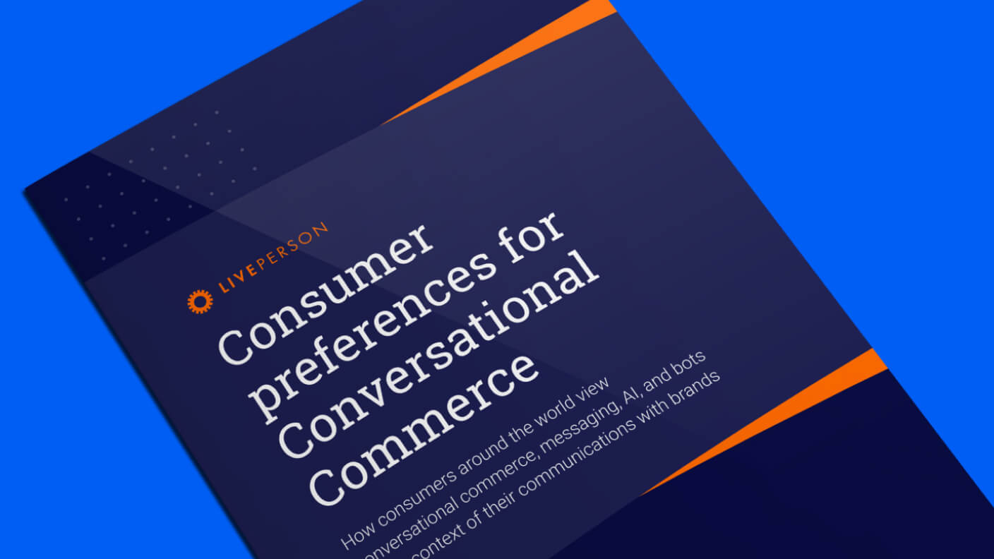 Cover of the 2020 survey report on consumers and conversational commerce