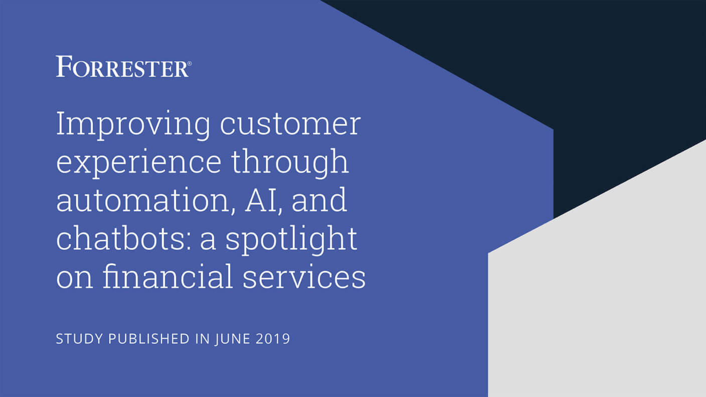 Cover of Forrester's AI study for the financial services industry