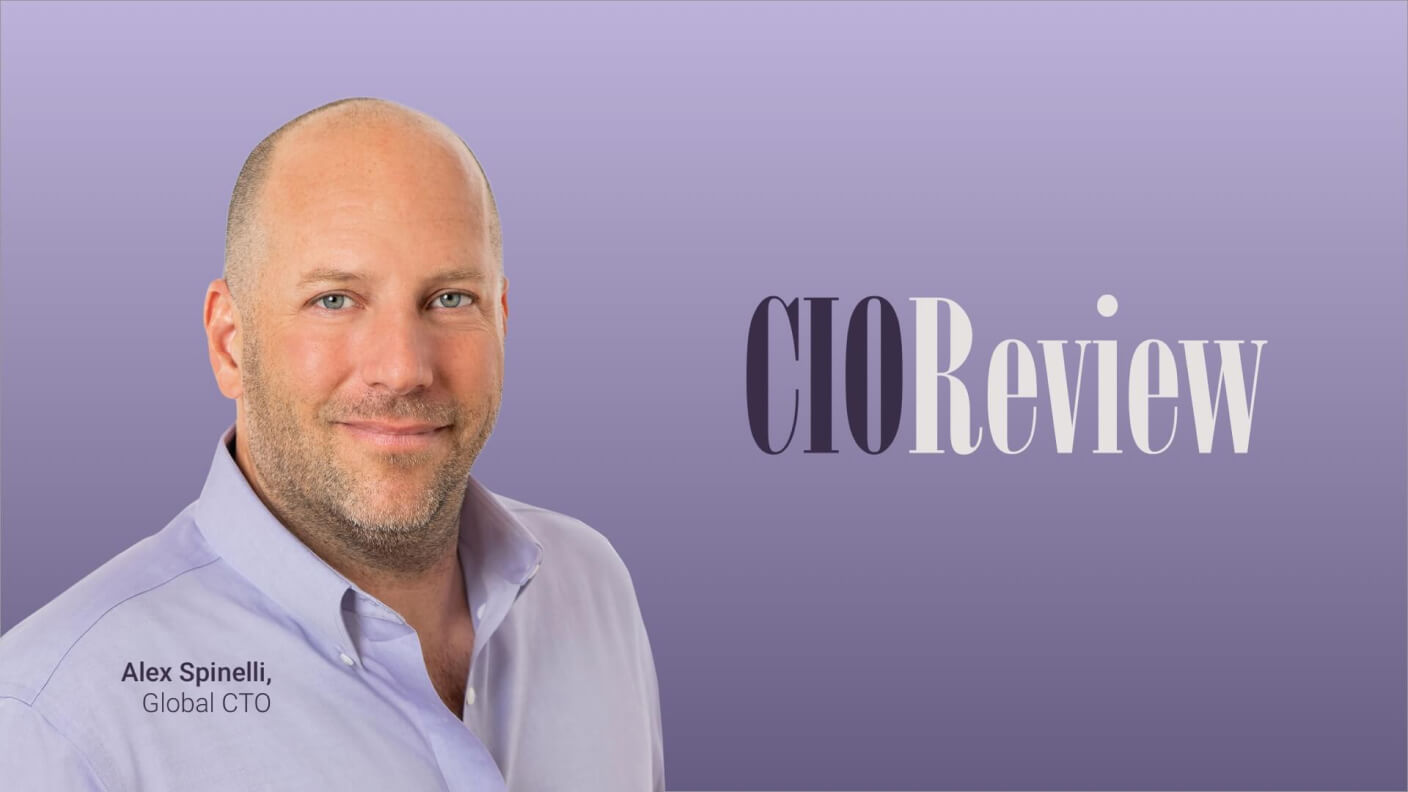 Alex Spinelli, LivePerson CTO, headshot for CIO Review