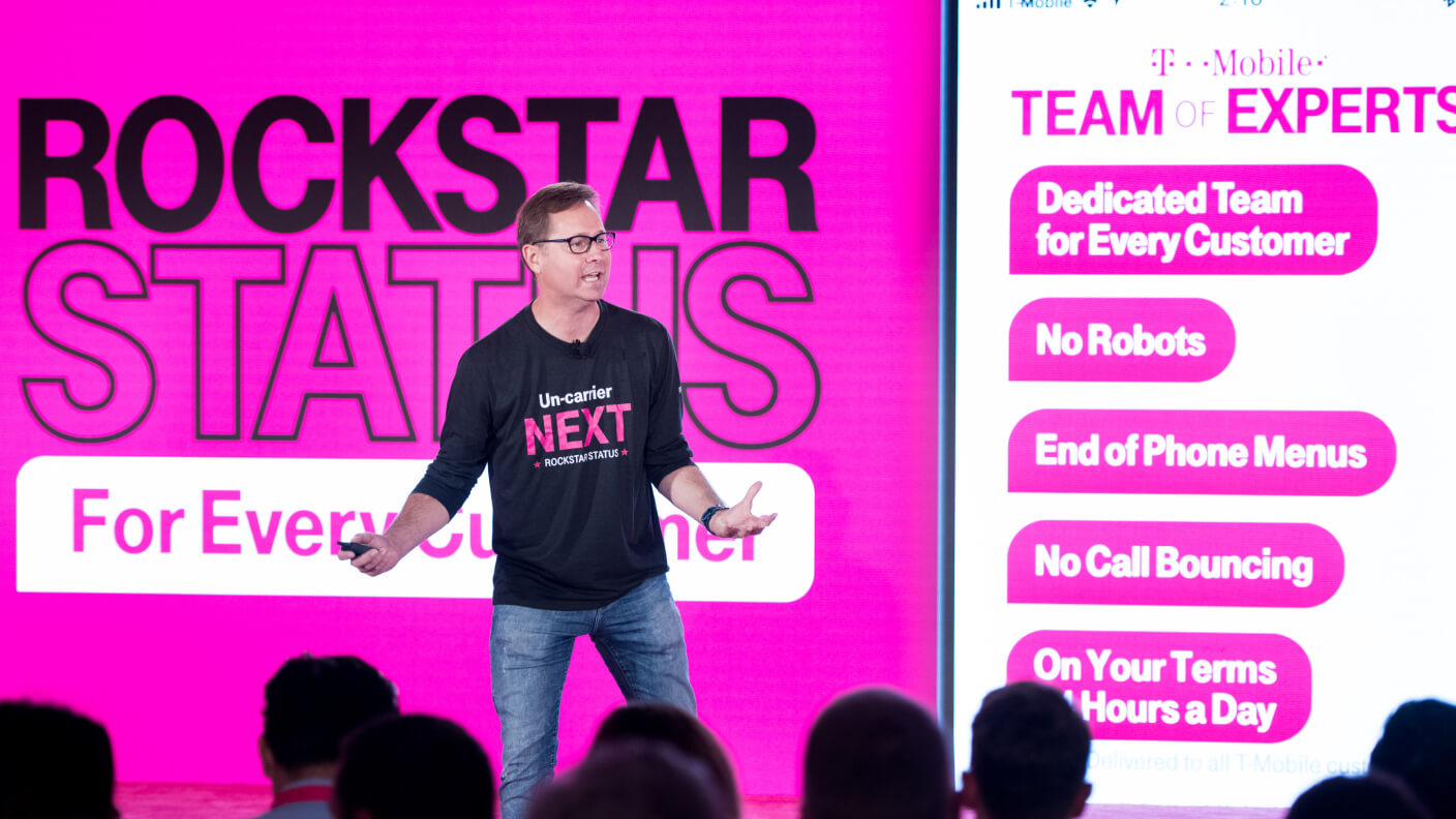 image of T-Mobile introducing their Team of Experts approach to care