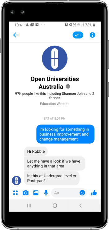 Open universities Australia mobile image