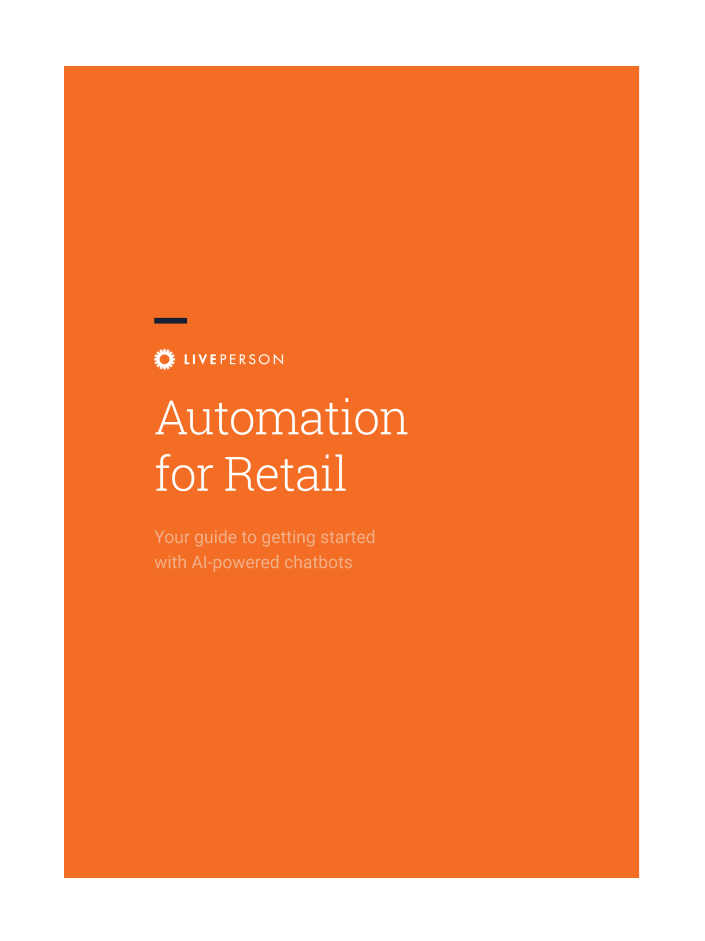 Automation for Retail guide cover page