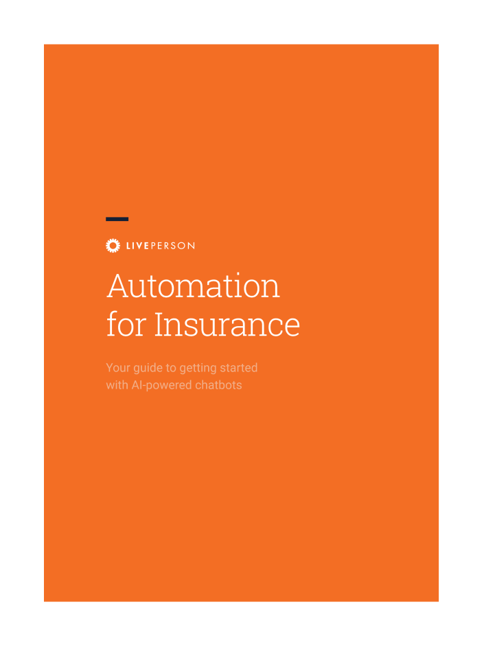 Automation for Insurance guide cover page
