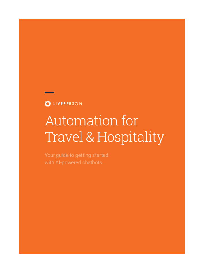 Automation for Travel & Hospitality guide cover page