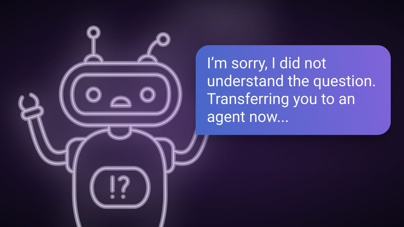 Bot conversation example of escalating to human agents