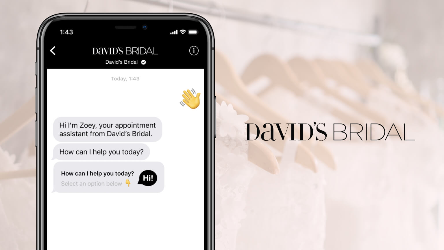Chatbot helping book an appointment via text message