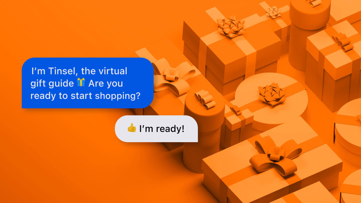 e-Commerce chatbot assisting a shopper over text messaging