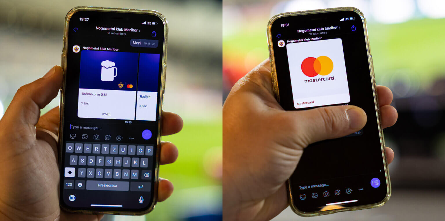 In-channel payment with Mastercard during a messaging conversation