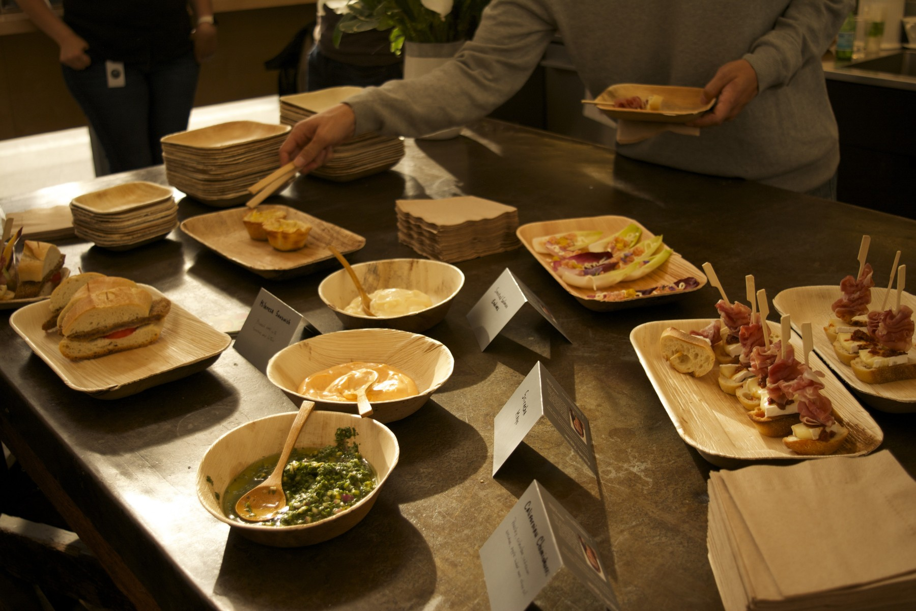 A picture of Argentinean tapas on a table.