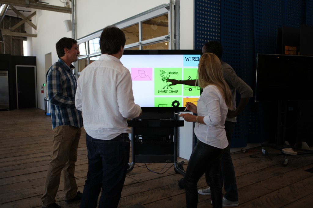 Team Collaborating on a touchscree