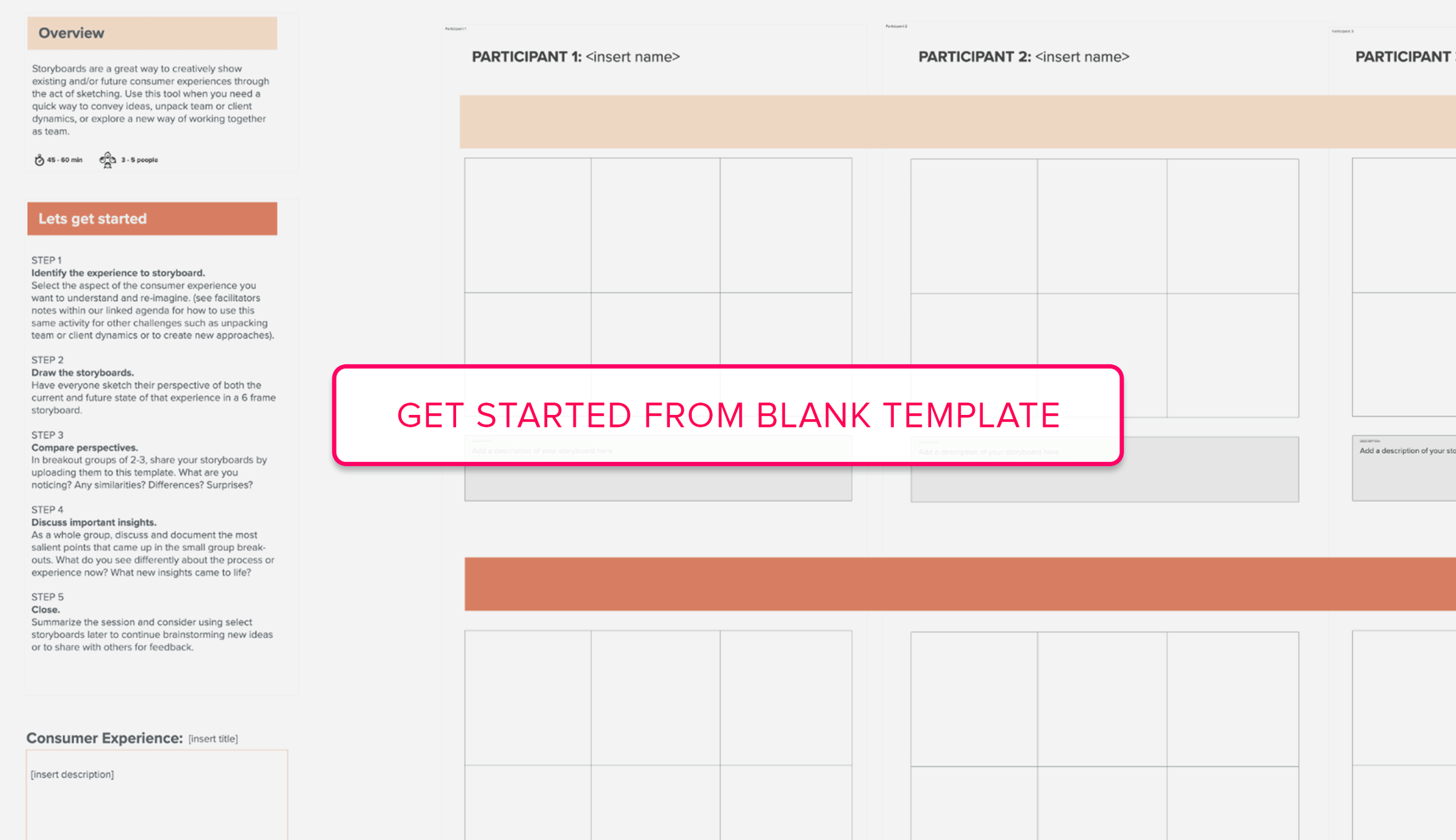 Get started from Storyboarding blank template