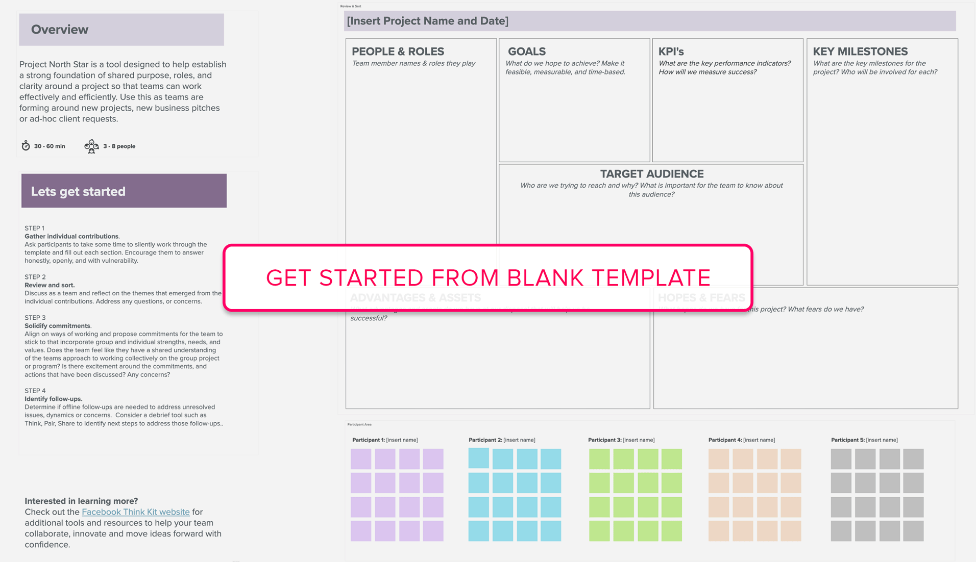 Get started from Project North Star blank template