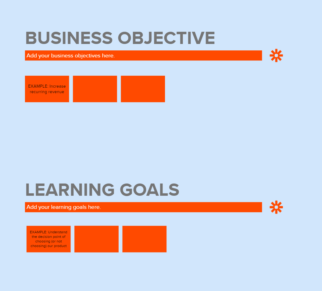 Business objectives and learning goals in MURAL