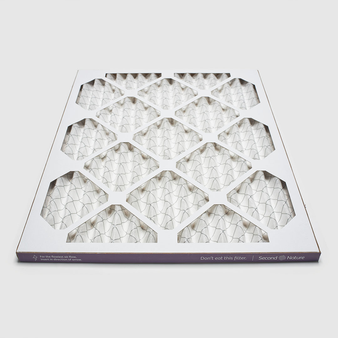 20x22x1 second nature air filter angle view