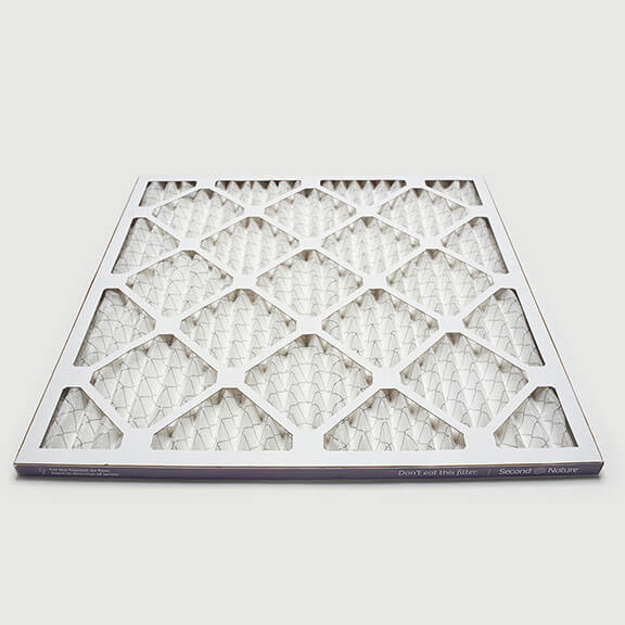 14x14x1 second nature air filter angle view