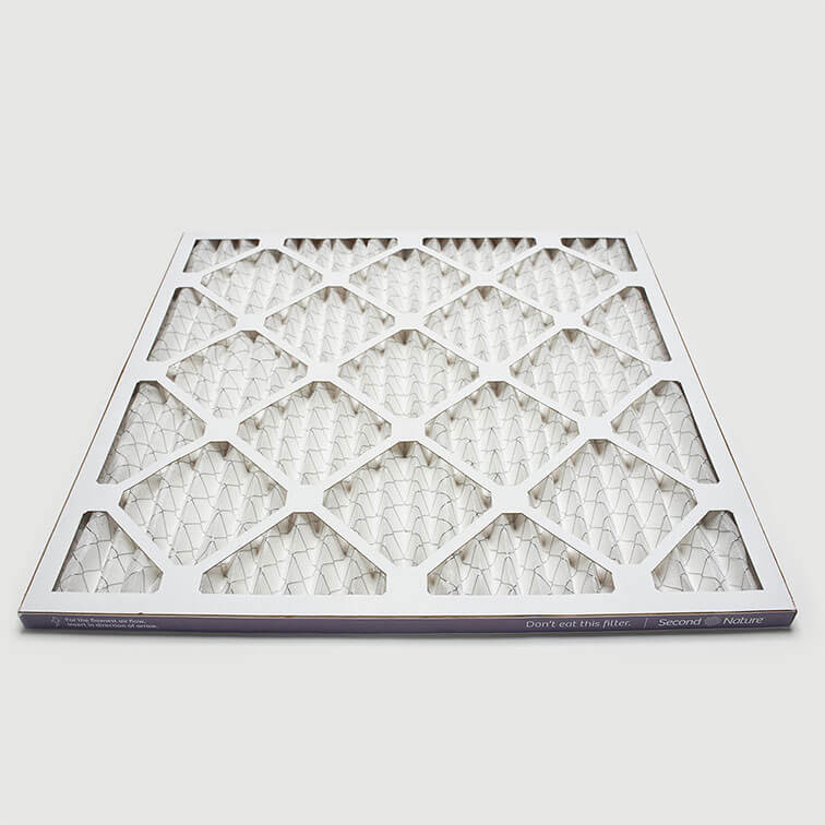 12x12x1 second nature air filter angle view