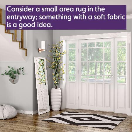 rug at front door