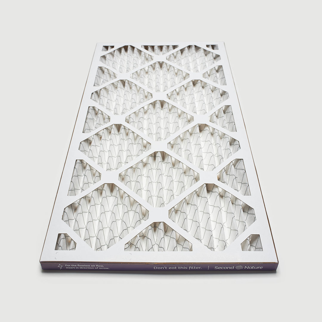 10x20x1 second nature air filter angle view